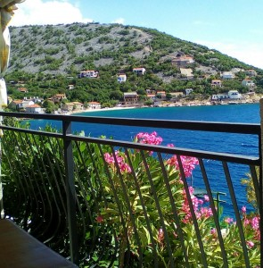 view from the terrace on the Klada bay